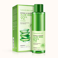 BIOAQUA 92 Aloe Vera Moisturizing Toner Natural Plant Brightens Skin Care 120ml