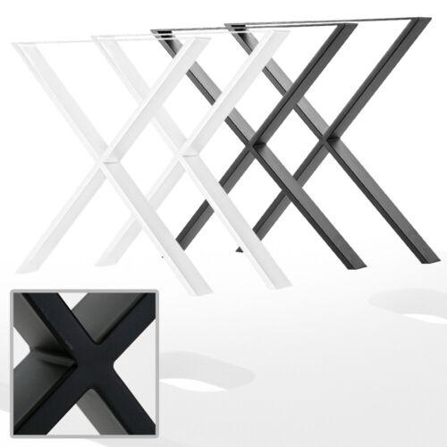 2x Tischuntergestell X Tischbeine Tischkufen Tischgestell Tischfuß Schwarz Weiß