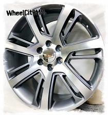 24 Inch Gunmetal Machine 2015 Cadillac Escalade Esv Replica Wheels 6x55 31