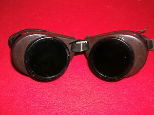 9424ef335c5 Image is loading Vintage-Steampunk-CESCO-Safety-Welding-Motorcycle-Goggles