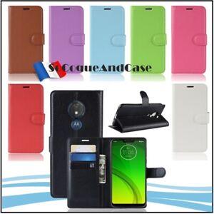 Etui-coque-housse-XL-COLORS-Cuir-PU-Leather-case-cover-Motorola-Moto-G7-Power