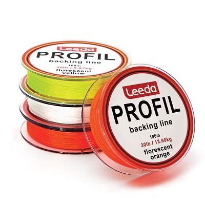 Leeda Profil Fly Line Backing Line 100m 20LB//30LB 3 Colours Trout//Salmon Fishing