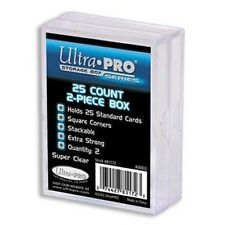 Ultra Pro - 15 Packs of 2 - 2-Piece Plastic Box 25 CT Case