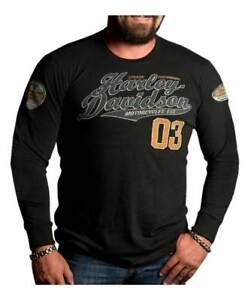Harley-Davidson-Men-039-s-Superior-Script-Premium-Long-Sleeve-Shirt-Black