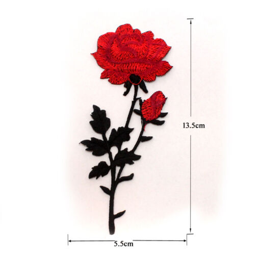 New Embroidered Flower Applique Iron On Sew On Patch Clothing Peony DIY
