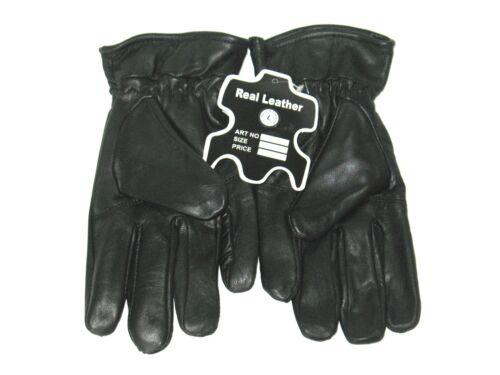 Black 100/% Genuine Leather Gloves Medium L XL XXL XXXL 4XL Winter Gloves