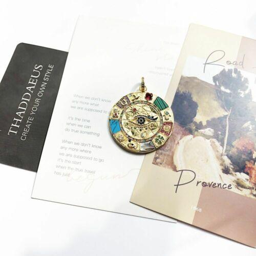 Damen Herren Anhänger Amulett Magische Glück Symbole Vintage Silber 925 Geschenk