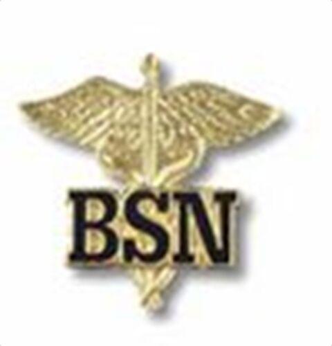 BSN BACHELORS OF SCIENCE NURSE MEDICAL UNIFORM COLLAR FIRE HEALTH BADGE PIN
