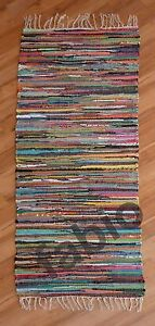 Rag-Rug-Runner-Indian-Fair-Trade-Multi-Colour-100-recycled-4-Sizes-from-16-99