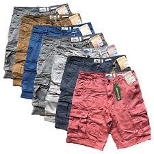 Debenhams Mens Cargo Shorts 100% Organic Cotton Summer Combat Pants 6 Pockets