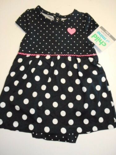 Girls dresses Polka dot creeper dress Baby clothes 1-Piece Outfits  6//9 mos