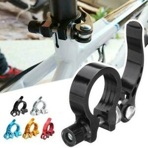 Bicycle-Alloy-Saddle-Seat-Clamp-Road-Bike-Cycle-Seatpost-Release-Size-Quick-C2E7