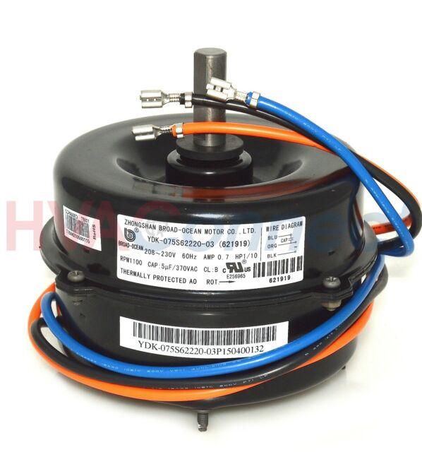 ge condenser fan motor 208 230 volt 1 10 hp 5kcp29cca341s 5 wire motor wiring diagram 6 hp 1075 rpm 208 230 volt condenser