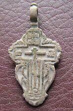 Antique Artifact > 18th-19th C Bronze Russian Orthodox Baptism Cross AA40-9