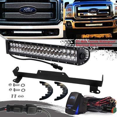 "20/"" LED Light Bar w// Bumper Mount Bracket//Wiring For 11-18 Ford F250 Super Duty"