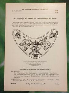 Klietmann Ordenssammlung Wehrmacht Ringkragen Fahnen Standartenträger Heeres H39