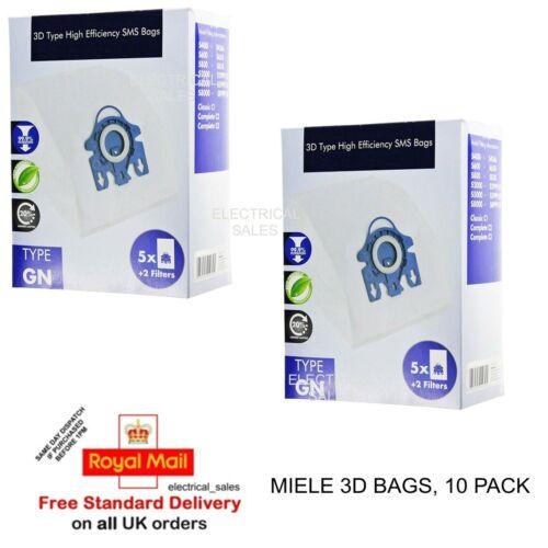 Compatible Avec MIELE GN complet C3 cat/&dog Powerline SGEF 3 3D Poussière Sacs X 10 /& 4 Filtres