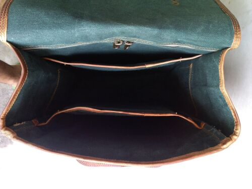 Mens Genuine Vintage Leather Messenger Business Laptop Briefcase Satchel Bag New