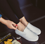 Fashion-Korean-Women-Girl-Leather-Casual-Flats-Oxfords-Loafer-Slip-On-Shoes thumbnail 8