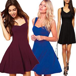 Women-Evening-Party-Sleeveless-Short-Mini-Dress-Summer-Cocktail-Beach-Sundress-N