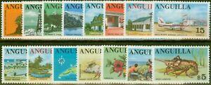 Anguilla-1967-68-Ensemble-de-15-SG17-31-V-F-Tres-Legerement-MTD-Excellent-Etat