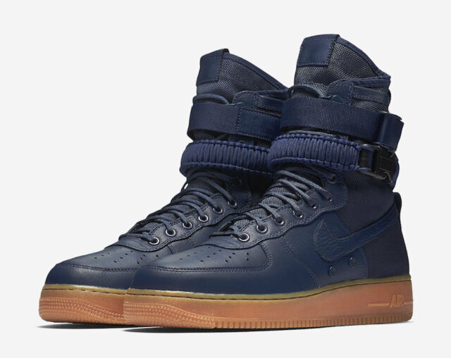 size 40 095ef 0a3bd Nike SF Air Force 1 Special Field AF1 Midnight Navy Blue Gum high 864024-400