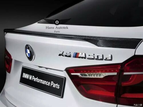 CARBON FIBRE REAR LIP TRUNK SPOILER MPERFORMANCE STYLE FOR BMW X6 F16 2014UP