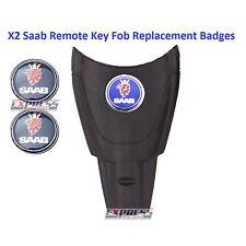 Saab 93 95 9-3 9-5 Aero Replacement Remote Key Fob Badge Sticker Emblem 12MM X2