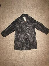 womens Eddie Bauer lambskin leather jacket black size m