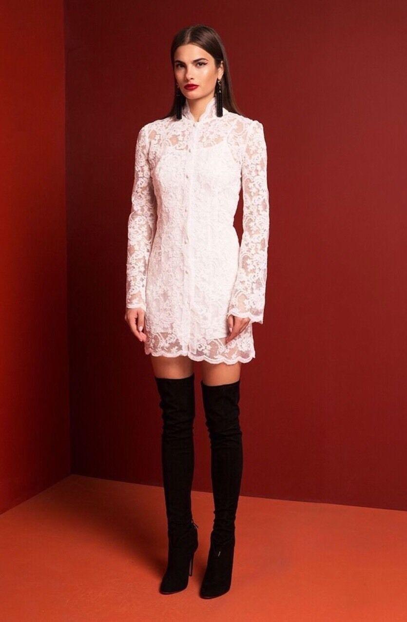 NEW  Stone Cold Fox Morita White Lace Dress Size 0