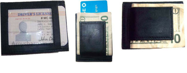 3 Leather Money Clip, Credit card/ID holder, wallet with magnetic money clip BN