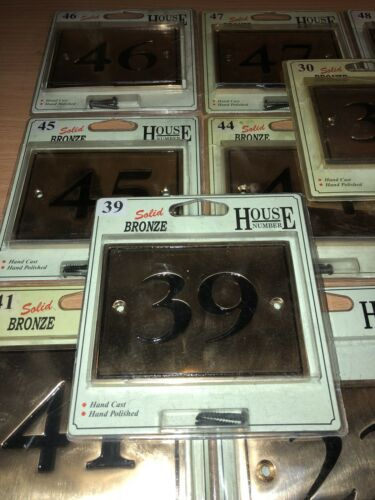 Solid Bronze House Number BNIB Free UK Postage Choose Your Number