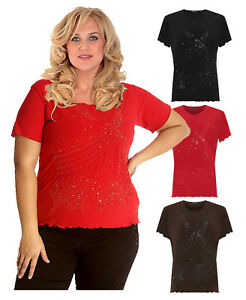 48b505a31b5 Image is loading Womens-Plus-Size-Beaded-Sequin-Embroidery-Scallop-Hem-