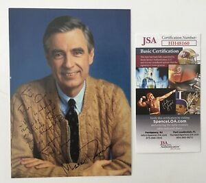 Mister-Fred-Rogers-Signed-Autographed-5x7-Photo-JSA-Certified-Mr-Neighborhood