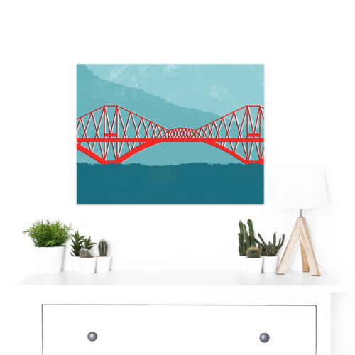 Scotland Edinburgh Forth Rail Large Wall Art Print