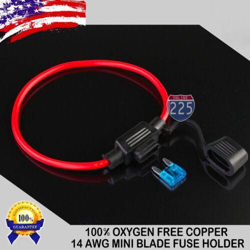 /& Fuse Amperage MINI In-Line Fuse Holder 10PCS OFC Copper Wire LOT Pick Wire GA