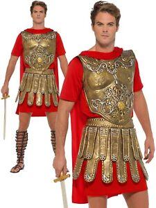MENS ROMAN CENTURION GLADIATOR SOLDIER WARRIOR SPARTACUS FANCY DRESS COSTUME