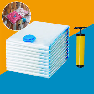 New-5pcs-Vacuum-Storage-Bag-Space-Saver-Hand-Pump-For-Travel-Seal-Clothes-Tools
