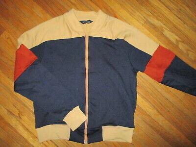 Vtg 70er Jahre 80er Jockey Brand Sweatshirt Zipper Durchgehender Reißverschluss