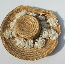 "Madame Alexander Hat Straw With Flowers Fits 14"" Dolls Maggie Walker 1951"