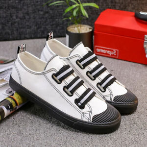 Men-039-s-Canvas-Shoes-Run-Sneakers-Casual-Flats-Lace-up-Fashion-Breathable-2Colors