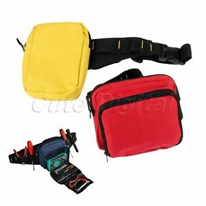815106ae96d0 Details about 1pc Toolkit Waist Belt Bag Professional Electricians Tool  Pouch Work Bag Holder