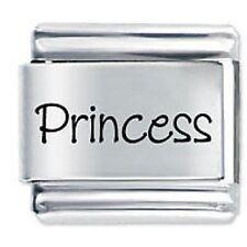PRINCESS Name - 9mm Daisy Charm by JSC Fits Classic Size Italian Charms Bracelet