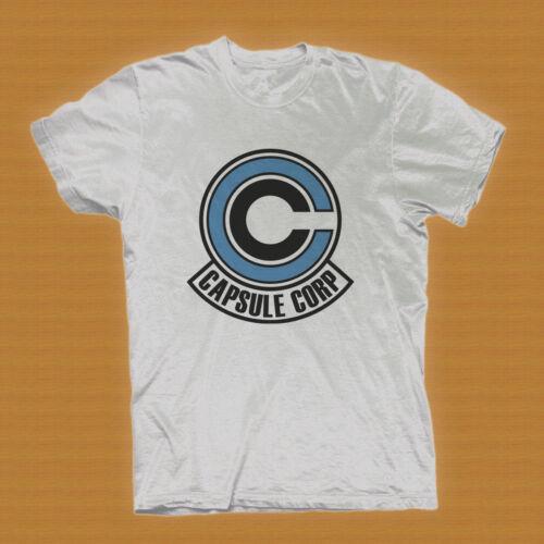 XL Capsule Corp Logo Dragonball Z white T-Shirt  Tee Size L 2XL M