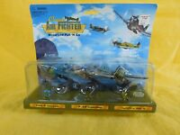 Classic Air Fighter Motorized Pull 'n Go By Kb Toys (set Of 3) Rare 1990's
