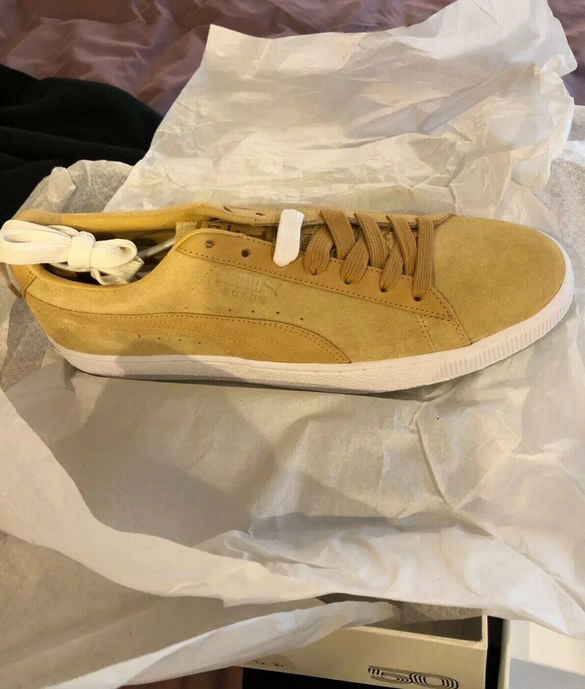 Puma Suede Classic X Chapter II Mens Tan Suede Lace Up Sneakers