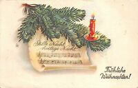 BG8428 fir branch candle   weihnachten christmas greetings germany