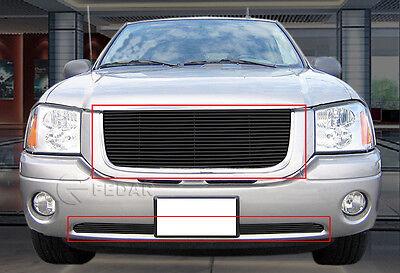 Fedar Black Billet Grille Combo Fits 2001-2009 GMC Envoy