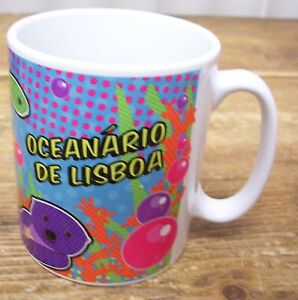Portugal Aquarium Oceanario De Lisboa Coffee Mug Cup Otter Fish Turtle Penguin Ebay