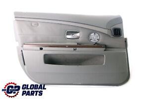 BMW-7-Serie-E65-E66-Anteriore-Sinistra-N-S-Porta-Scheda-Grigio-Pelle-Fodera-IN